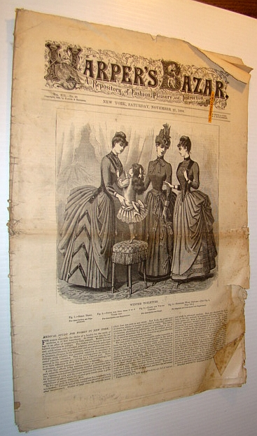 Image for Harper's Bazar (Bazaar) Magazine, November 27, 1886 - A Repository of Fashion, Pleasure, and Instruction