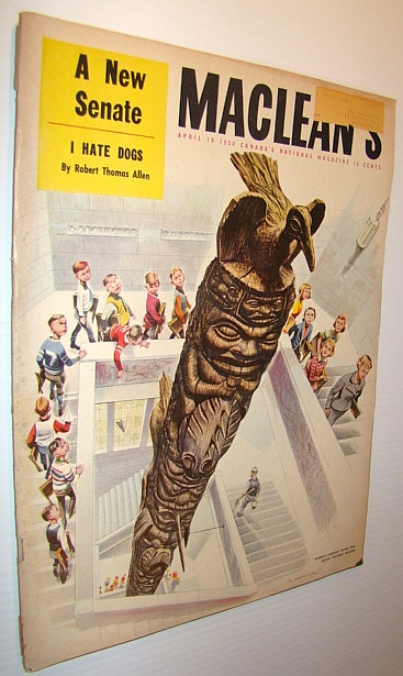 Image for Maclean's Magazine, April 15 1954 - World's Largest Totem Pole Cover Illustration