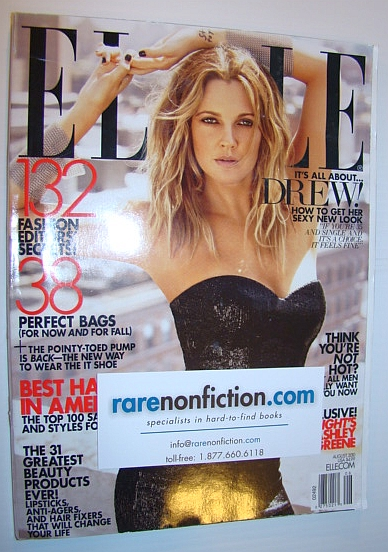 Image for Elle Magazine, August 2010 - Drew Barrymore Cover