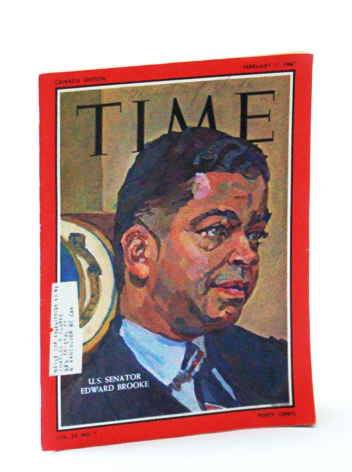 Image for Time Magazine, February 17, 1967 - Senator Edward Brooke Cover