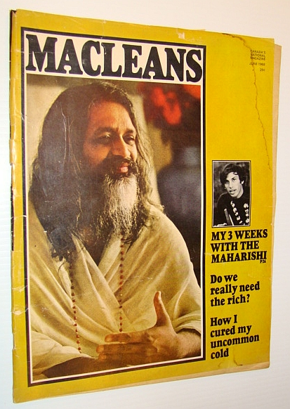 Image for Maclean's - Canada's National Magazine, June, 1968 - The Beatles Visit the Maharishi