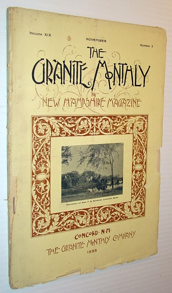 Image for The Granite Monthly - a New Hampshire Magazine, November 1895