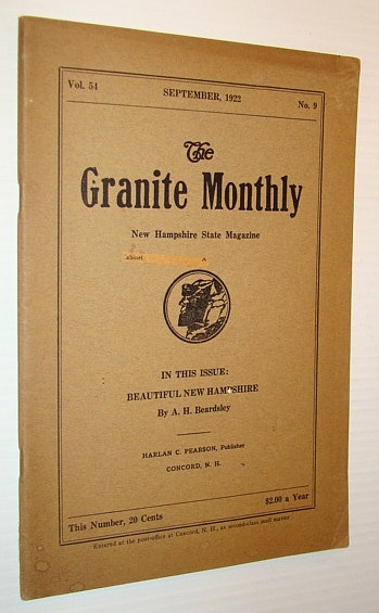 Image for The Granite Monthly - A New Hampshire Magazine - September, 1922: Timothy P. Sullivan