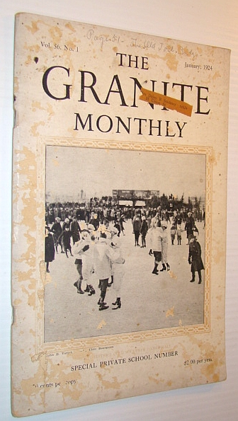 Image for The Granite Monthly - A New Hampshire Magazine, January 1924