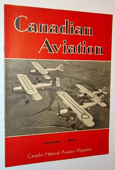 Image for Canadian Aviation, September 1937 - Canada's National Aviation Magazine