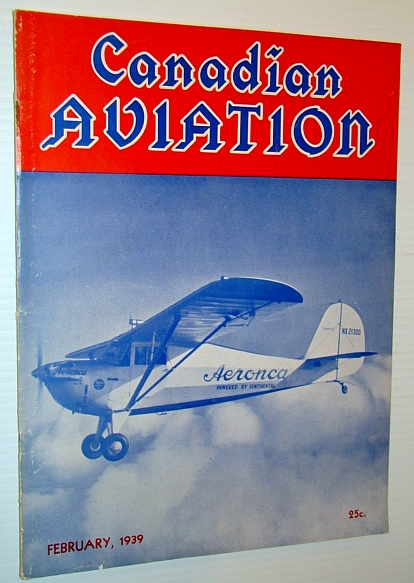 Image for Canadian Aviation Magazine, February 1939