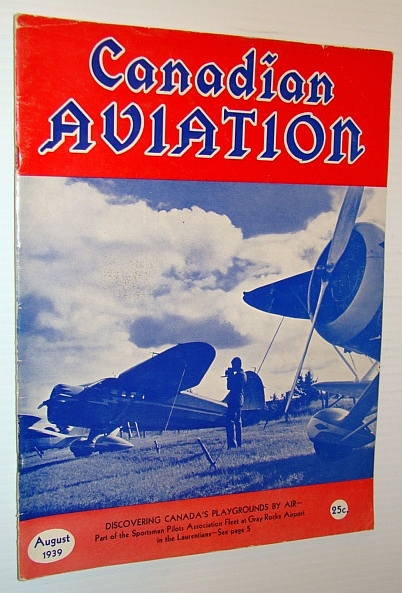 Image for Canadian Aviation Magazine, August 1939
