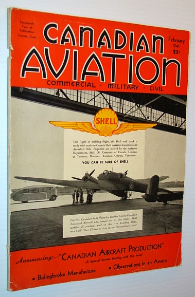 Image for Canadian Aviation Magazine, February 1941- Canadian Aircraft Production