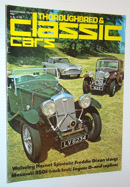 Image for Thoroughbred and Classic Cars Magazine, September 1975 - Freddie Dixon