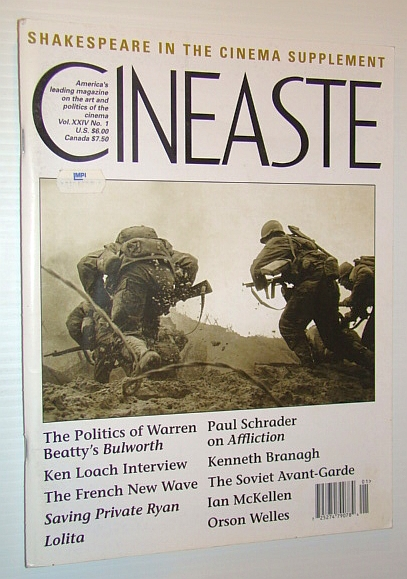Image for Cineaste - America's Leading Magazine on the Art and Politics of the Cinema, Vol. XXIV No. 1, 1998 - Shakespeare in the Cinema Supplement