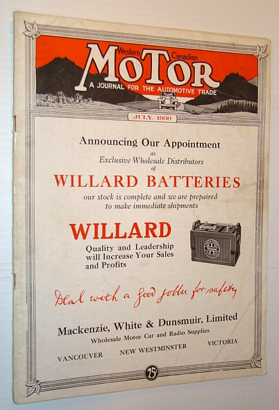 Image for Western Canadian Motor - A Journal for the Automotive Trade - July 1930