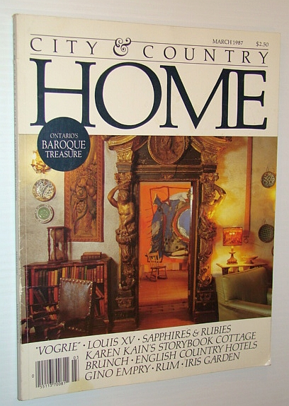 Image for City and Country Home Magazine, March 1987 - Ontario's Baroque Treasure