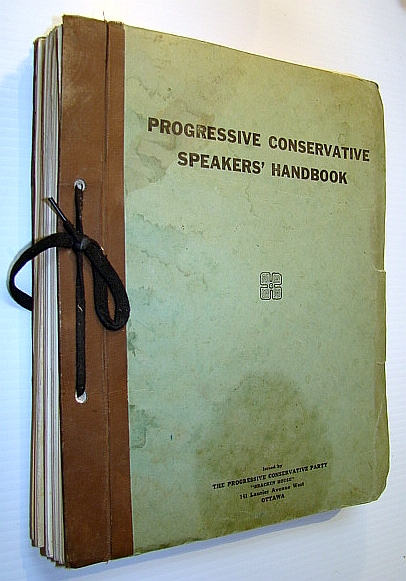 Image for Progressive Conservative Speakers' Handbook