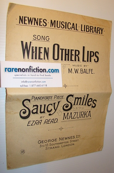 Image for Sheet Music for: 'When Other Lips' and 'Saucy Smiles' - Includes Piano Music and Lyrics