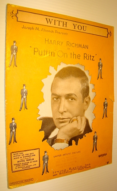 "Image for With You - Sheet Music for Piano and Voice with Ukulele Chords - from ""Puttin' on the Ritz"""