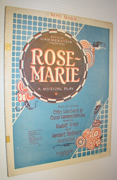Image for Rose-Marie (Jim and Malone) - Sheet Music for Voice and Piano