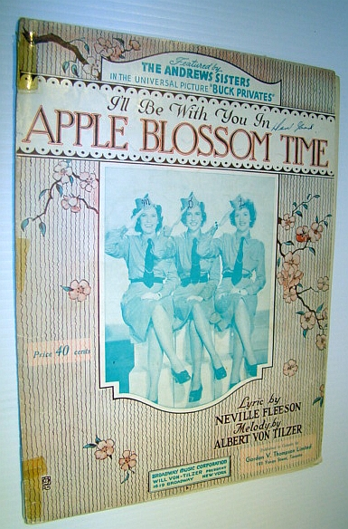 Image for I'll Be With You in Apple Blossom Time - Sheet Music for Piano and Voice with Guitar Chords