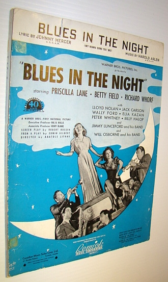 Image for Blues in the Night - Sheet Music for Voice and Piano with Ukulele Chords