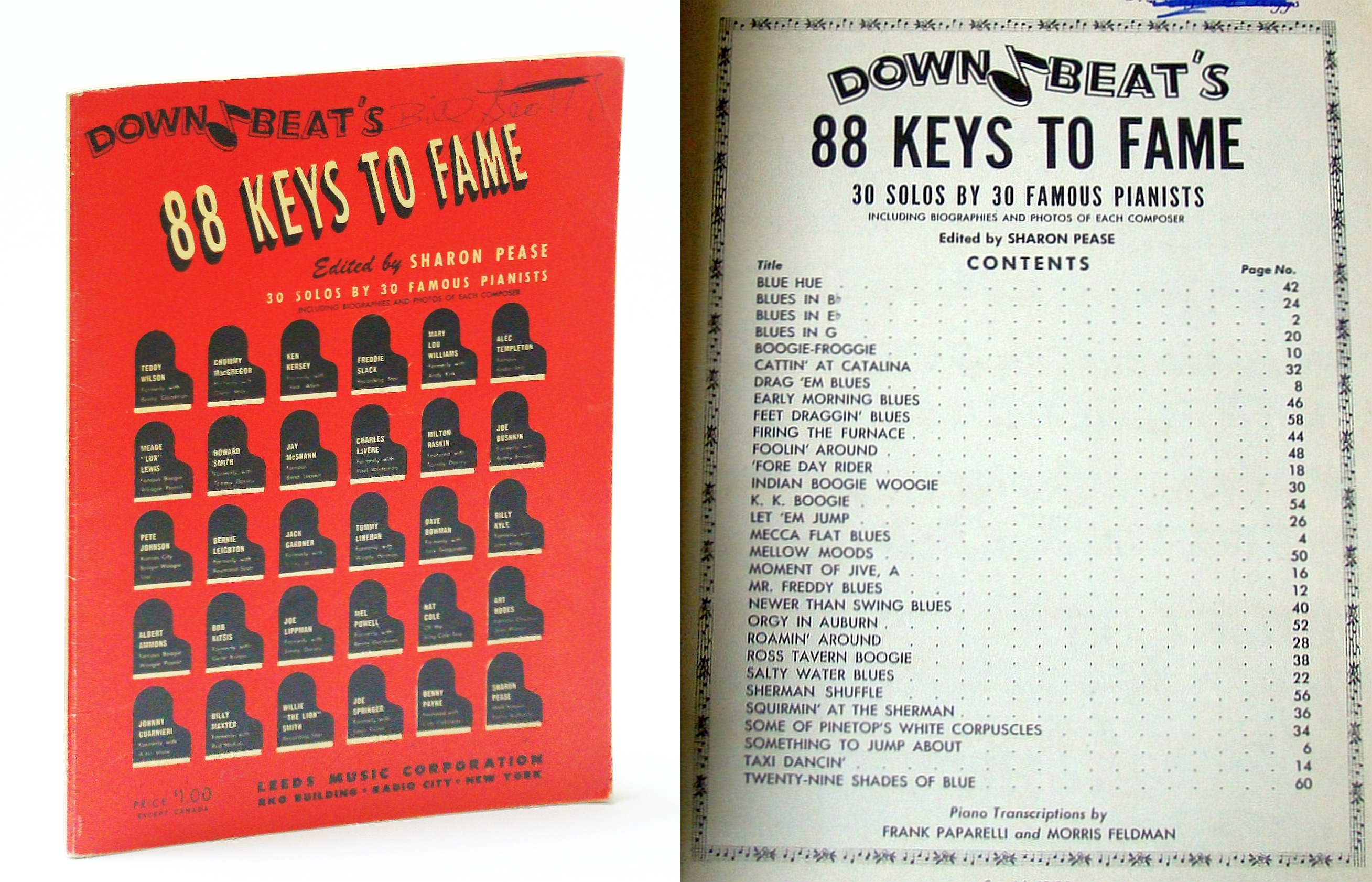 Image for Down Beat's 88 (Eighty-Eight) Keys to Fame (Piano Sheet Music)