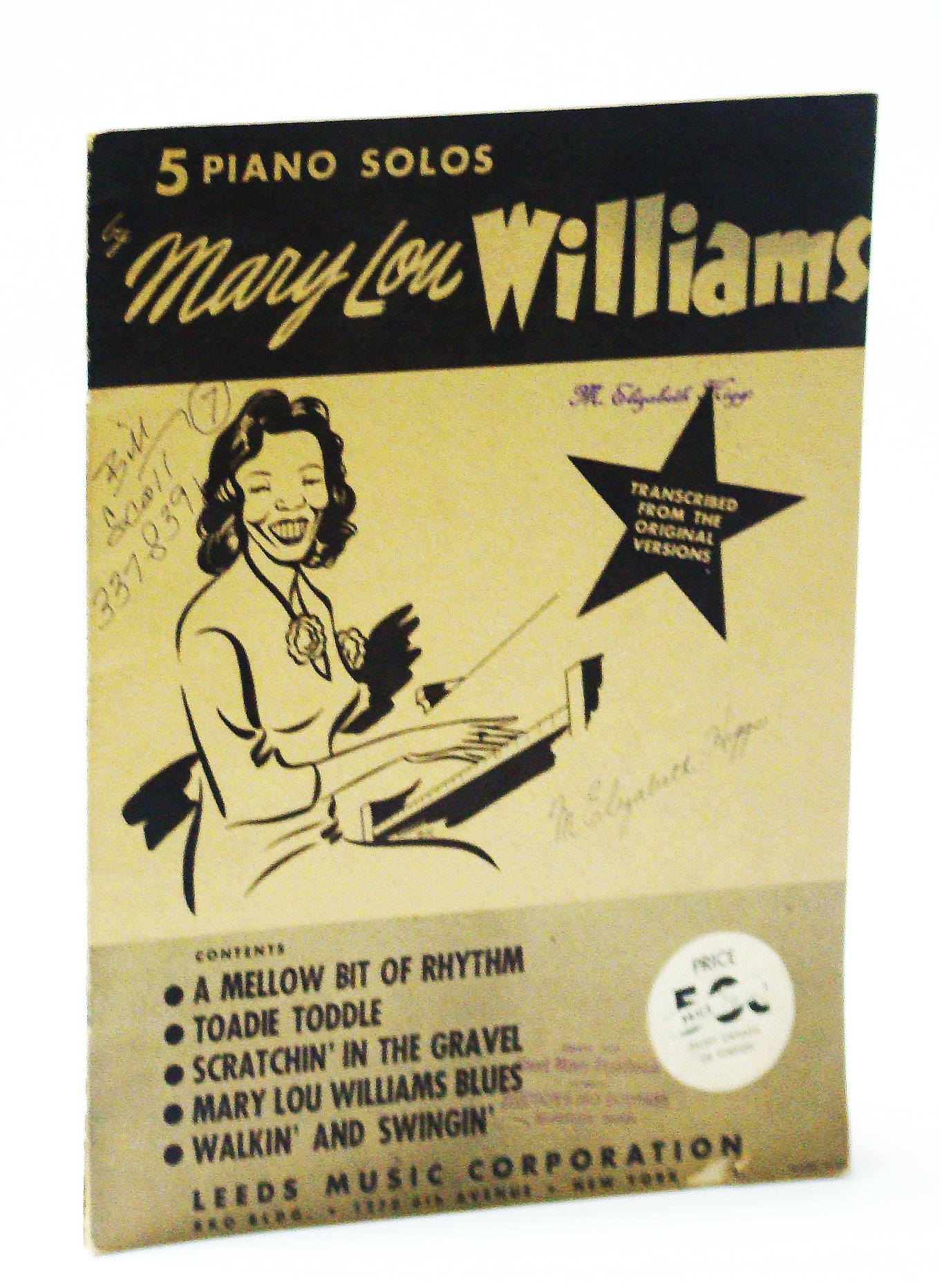 Image for 5 (Five) Piano Solos By Mary Lou Williams - Piano Sheet Music