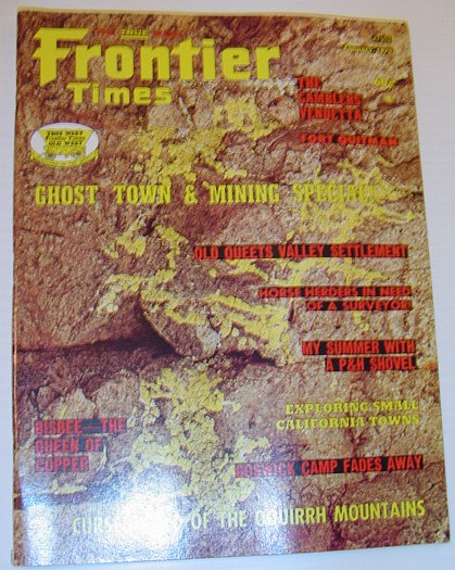 Image for Frontier Times Magazine: January 1975 *GHOST TOWN & MINING SPECIAL*