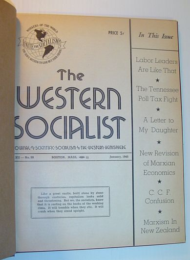 Image for The Western Socialist - The Journal of Scientific Socialism in the Western Hemisphere: Volumes 12 and 13 Bound in One Volume, Including All Issues 1945-1946