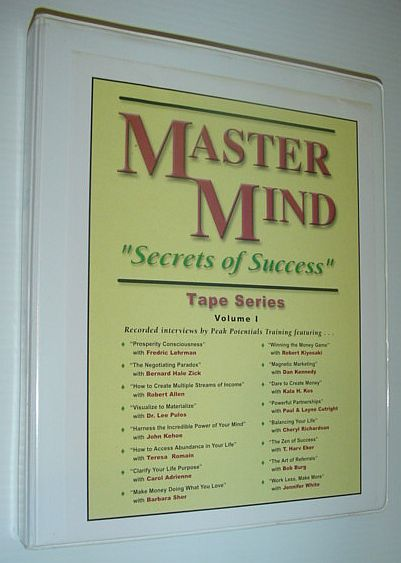 "Image for MasterMind (Master Mind) ""Secrets of Success"" Tape Series, Volume I: 16 Audio Cassette Tapes Complete with Case"