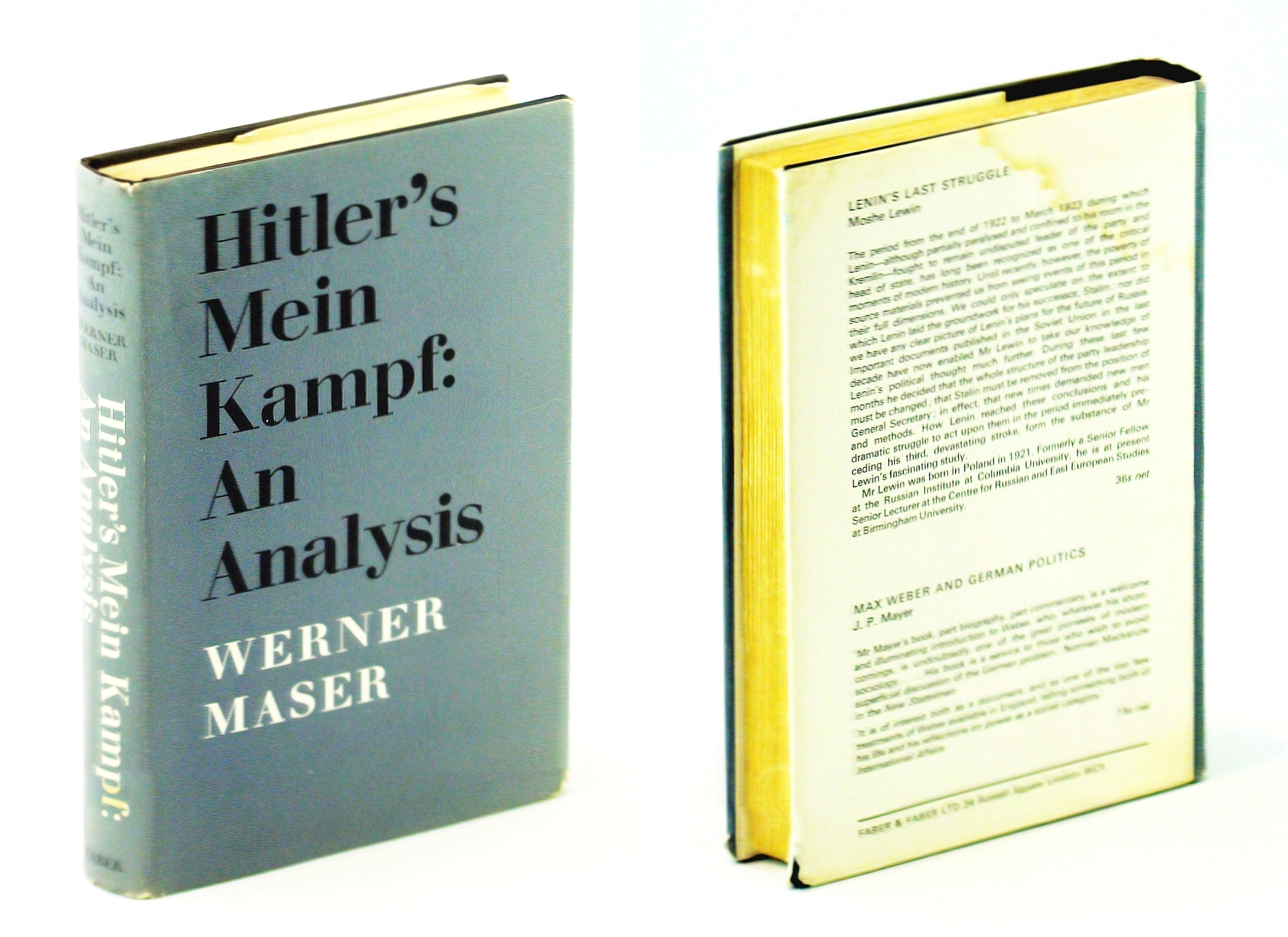 Image for Hitler's 'Mein Kampf': an analysis;