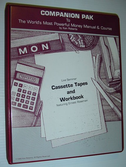 Image for Companion Pak (Pack) to the World's Most Powerful Money Manual & Course: 6 Live Seminar Audio Cassette Tapes and Workbook in Case