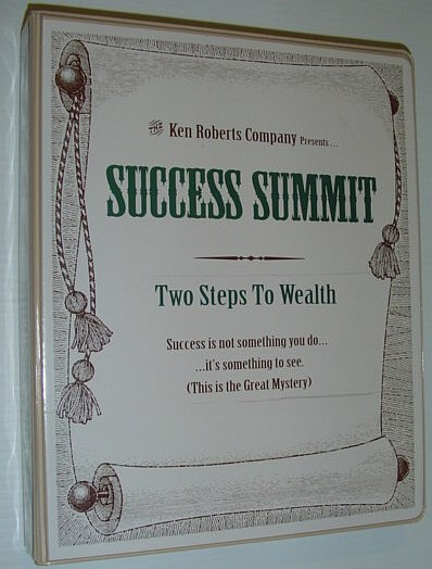 Image for Success Summit: Two Steps To Wealth - 6 Audio Cassette Tapes Plus Four Booklets and More in Case